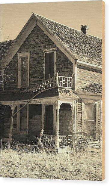 Montana Last Breath Wood Print by William Kelvie