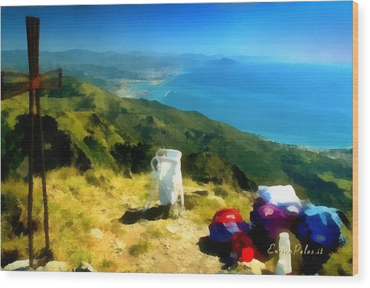 Monte Rama E Panorama Su Genova Wood Print