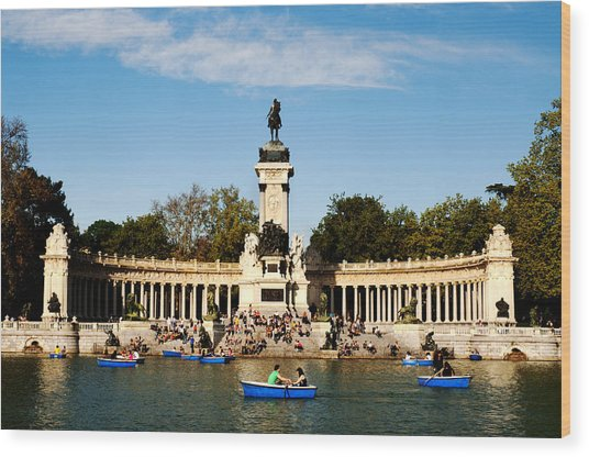 Monument To Alfonso Xii Wood Print