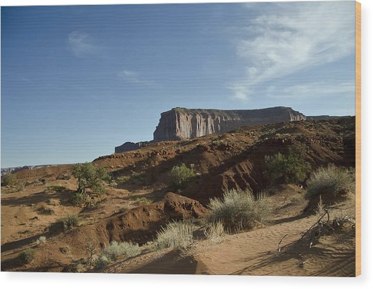 Monument Valley Morning Wood Print