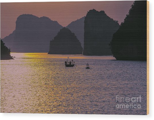 Moods Ha Long Bay Wood Print
