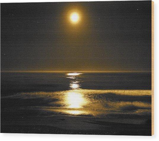 Moon Dust Wood Print