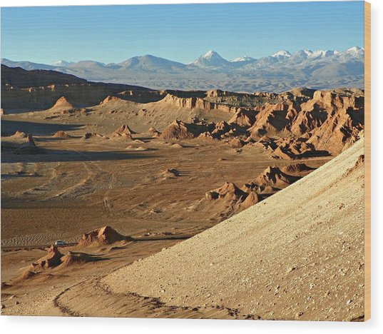 Moon Valley Atacama Desert Wood Print