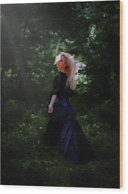 Moonlight Calls Me Wood Print
