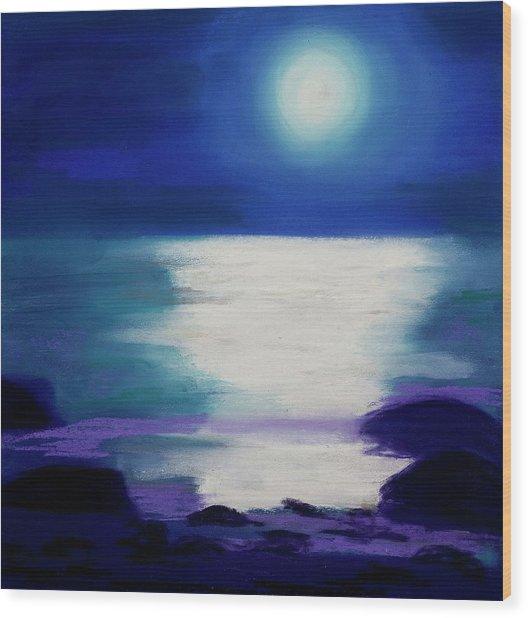Moonlight Sonata Wood Print by Diana Tripp
