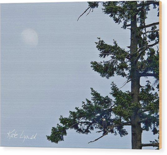 Moonrise Vigil Wood Print
