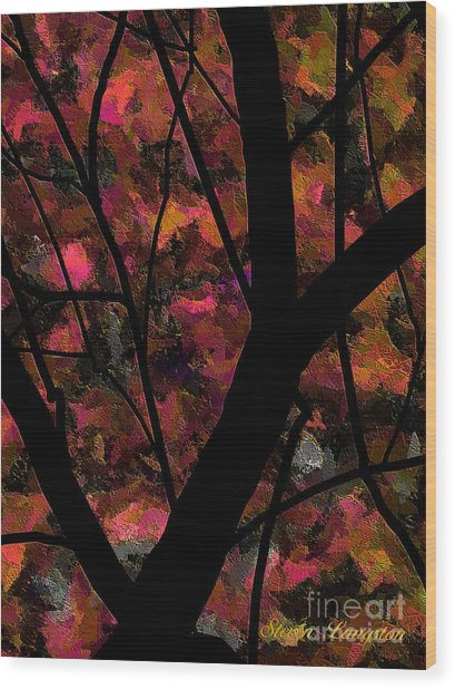 More Trees And Leaves Wood Print