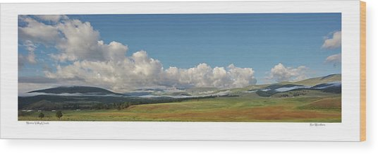 Moreno Valley Clouds Wood Print