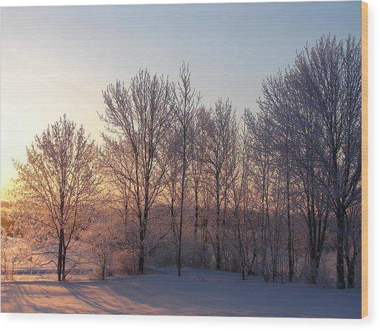 Morning Break Wood Print