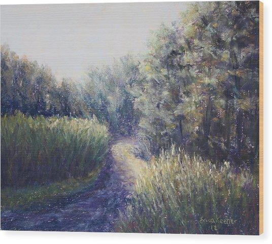 Morning Drive Wood Print by Erica Keener