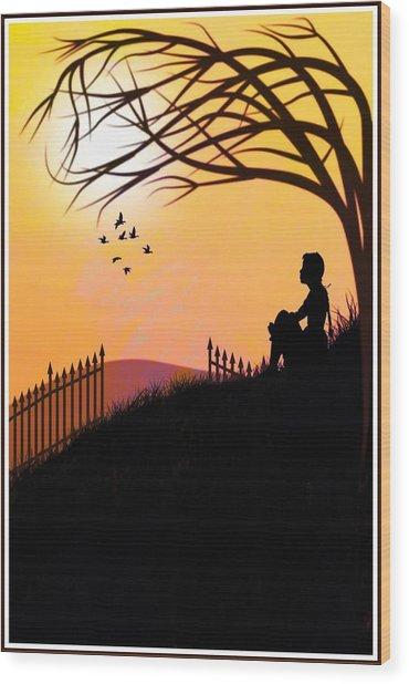 Morning Glory Wood Print