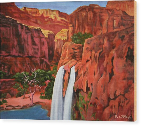 Morning In The Canyon Wood Print