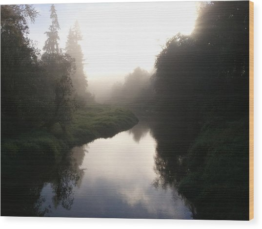 Morning Mist Wood Print by Kristina Edwards