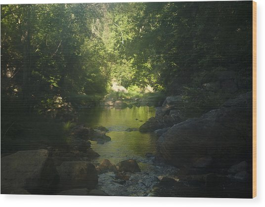 Morning River Wood Print by Daniel Milligan