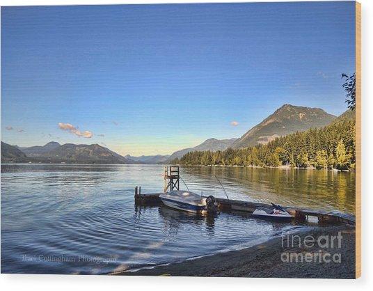 Mornings In British Columbia Wood Print