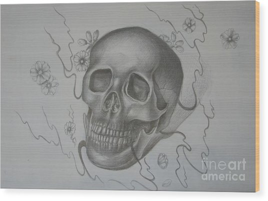 Mortality Wood Print