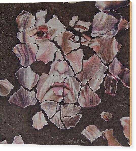 Mosaic Wood Print by Joan Pollak