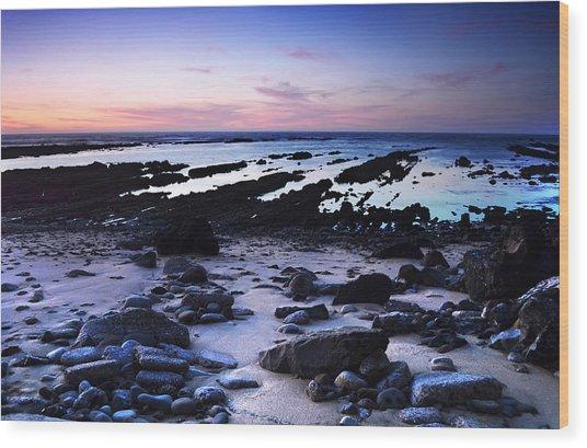 Moss Beach - Fitzgerald Reserve Shore Wood Print