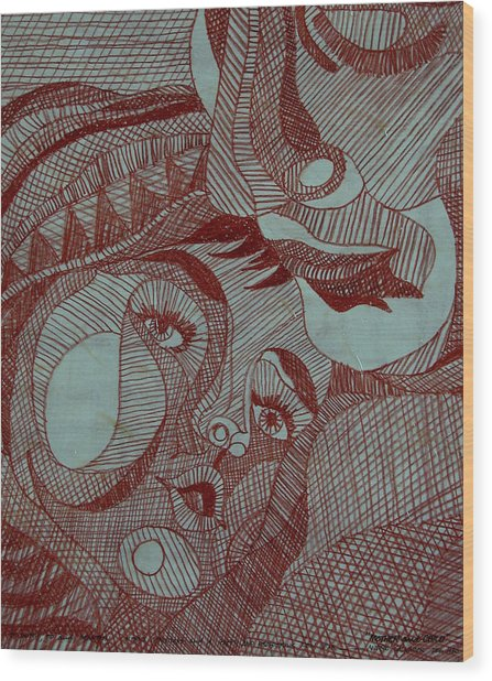 Mother And Child Wood Print by Andre Salvador
