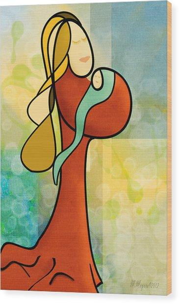 Mother N Child Wood Print by Melisa Meyers