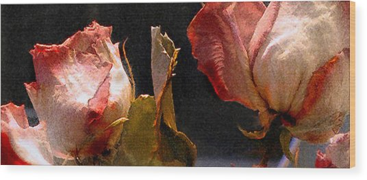 Mother's Roses Wood Print