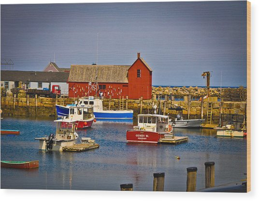 Motif 1 Wood Print by Erica McLellan