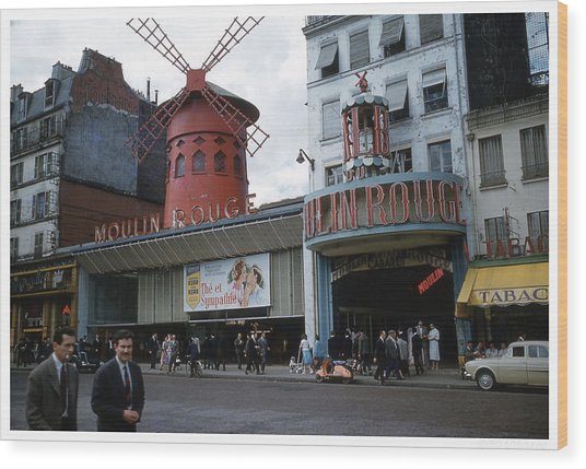 Moulin Rouge Wood Print by Theo Bethel