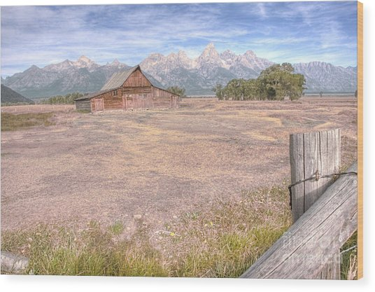 Wood Print featuring the photograph Moulton Barn On Mormon Row Late Summer 2012 B by Katie LaSalle-Lowery