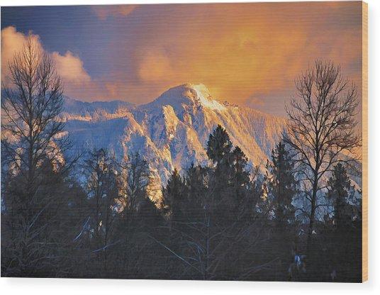 Mount Si Winter Wonder Wood Print by Scott Massey