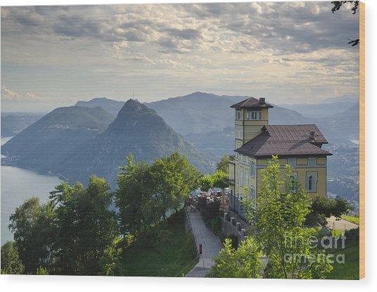 Mountain Bre Wood Print