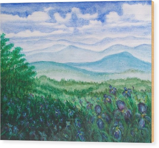 Mountain Glory Wood Print by Jeanette Stewart