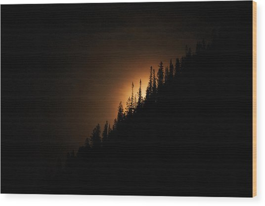 Mountain Glow Wood Print