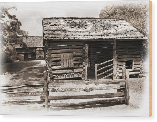 Mountain Life Wood Print by Barry Jones