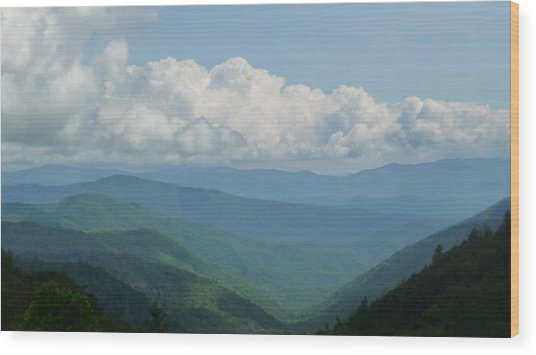 Mountain Magnificence Wood Print by Michael Carrothers