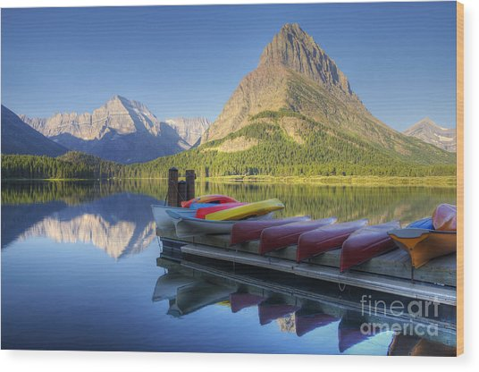 Mountain Recreation Wood Print