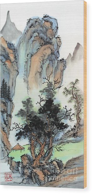 Mountain Retreat Wood Print