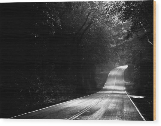 Mountain Road II Wood Print