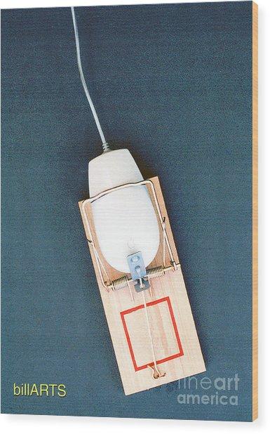 Mouse Trap Wood Print