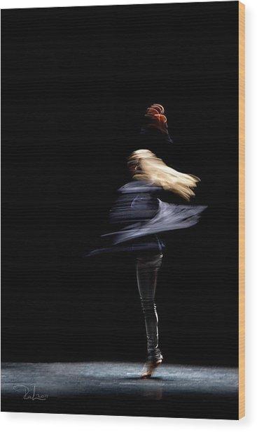 Moved Dance. Wood Print by Raffaella Lunelli