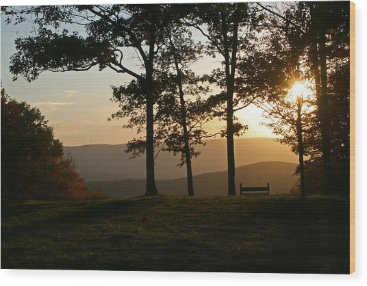 Mt Pisqah Sunset 2 Wood Print