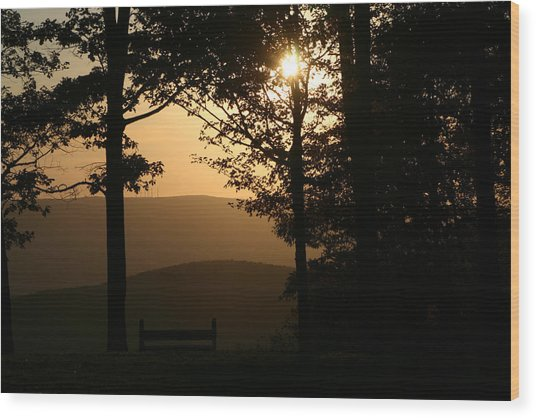 Mt Pisqah Sunset Wood Print