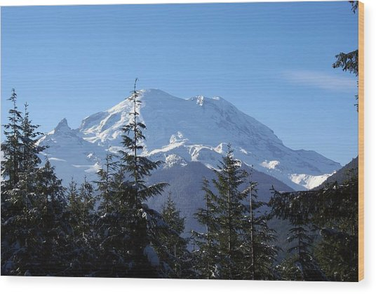 Mt. Rainier Wood Print