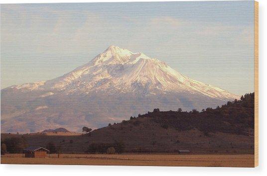 Mt. Shasta Wood Print by Deborah Weber