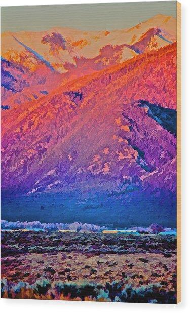 Mt Wheeler At Sunset Wood Print