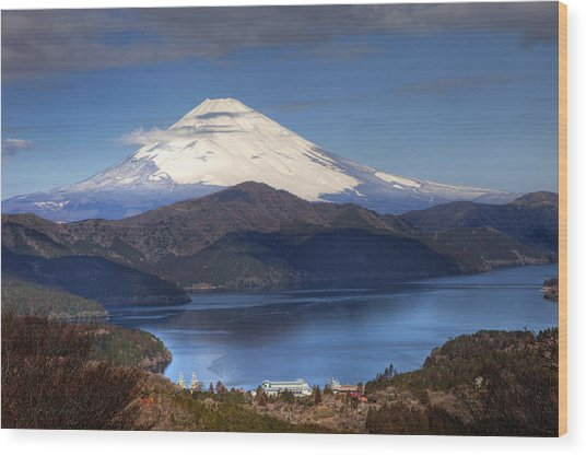 Mt.fuji And Lake Ashinoko-ii Wood Print