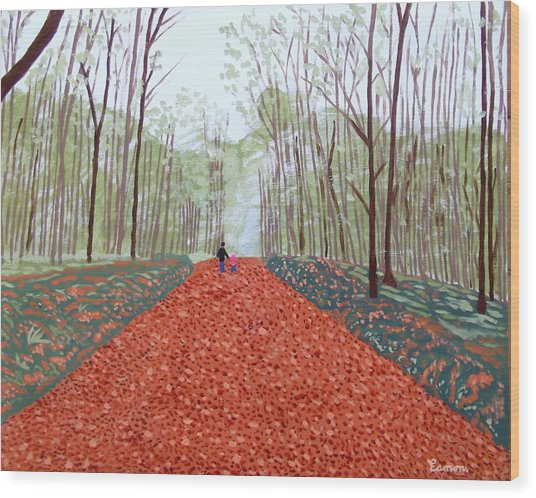Mullaghmeen Forest In Autumn Time Wood Print by Eamon Reilly