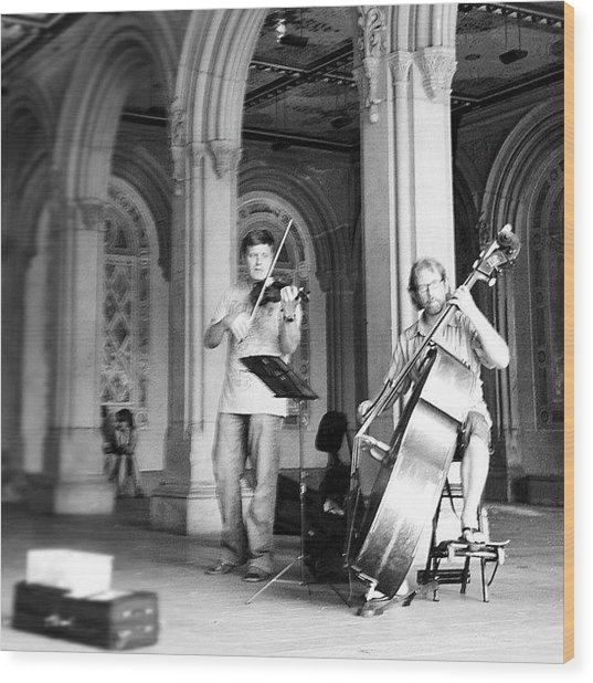 Music At Bethesda Wood Print