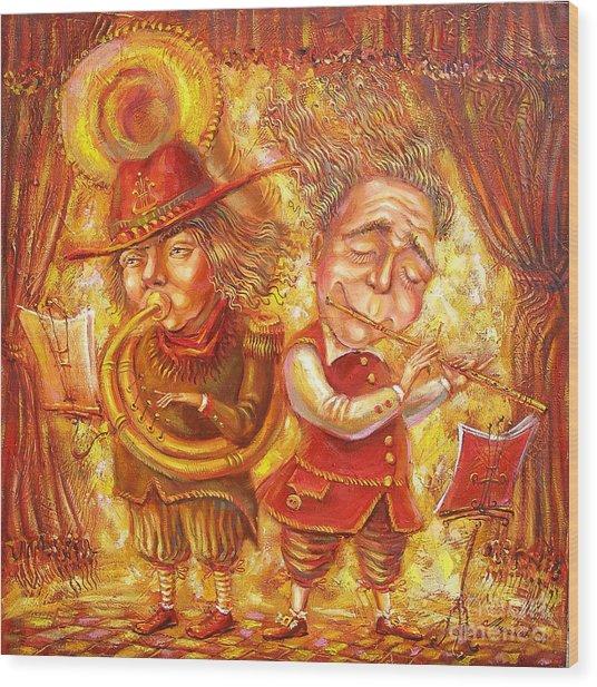 Music Holiday Wood Print by Aleksandr Mironov