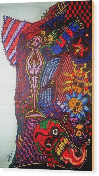Music Wood Print by Ragdoll Washburn
