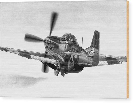 Mustang Away Wood Print by Lyle Brown